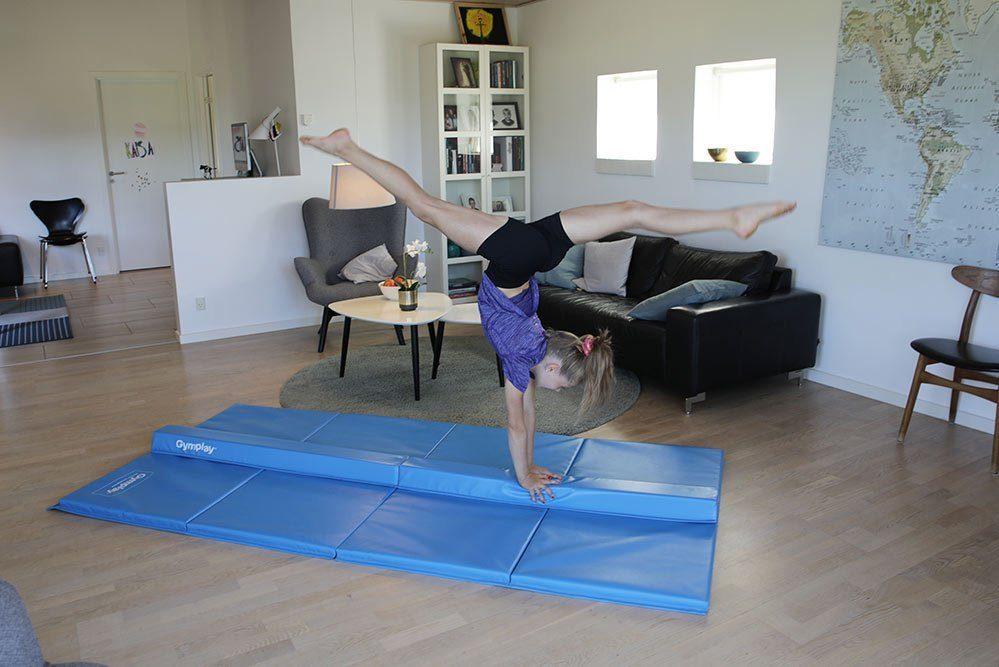 Air track gymnastics for home use